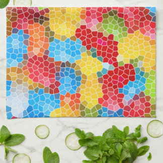 Bright and Colorful Unique Abstract Pattern Tea Towel