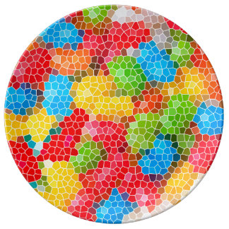Bright and Colorful Unique Pattern Plate