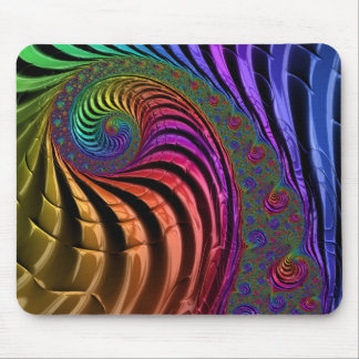 Bright and colourful fractal mouse mat
