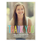 Bright and Colourful Graduation Thank You Card