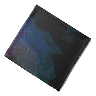 Bright and Dark Purple and Blue Nebula Bandana