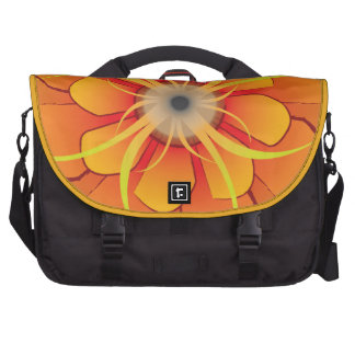 Bright and Funky Abstract Flower Computer Bag