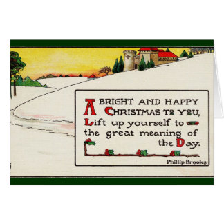 Bright and Happy Christmas Card