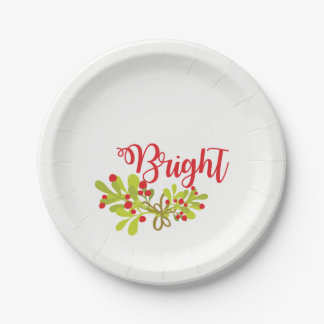 Bright And Ivy Holiday Party Paper Plates