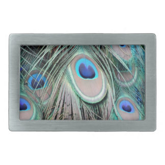 Bright And Shiny Peacock Eyes Belt Buckle