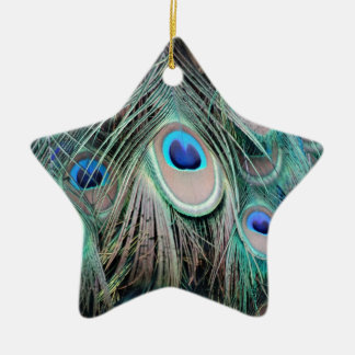 Bright And Shiny Peacock Eyes Christmas Ornament