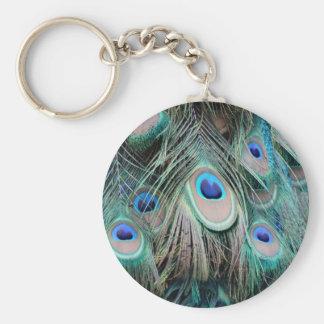 Bright And Shiny Peacock Eyes Key Ring