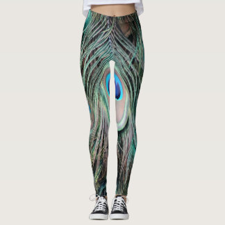 Bright And Shiny Peacock Eyes Leggings