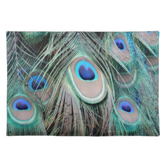 Bright And Shiny Peacock Eyes Placemat