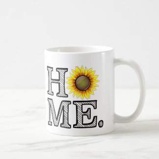 Bright and Sunny Home Sunflower Housewarmer Basic White Mug