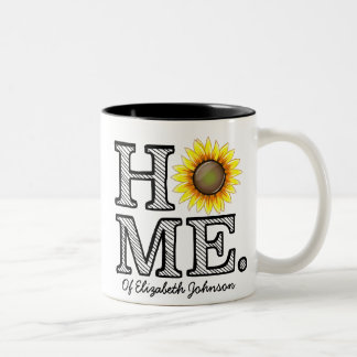 Bright and Sunny Home Sunflower Housewarmer Two-Tone Mug