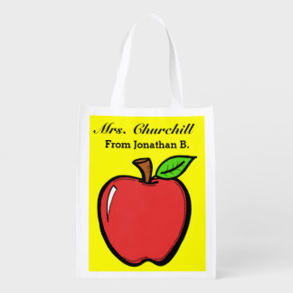 Bright Apples Grocery, Gift, Favor Bag - SRF