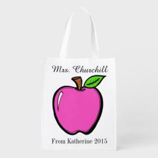 Bright Apples Grocery, Gift, Favor Bag - SRF Market Totes