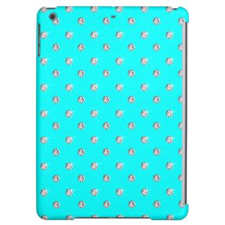 Bright aqua diamonds cover for iPad air