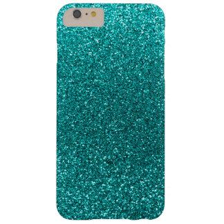 Bright aqua glitter barely there iPhone 6 plus case