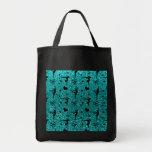 Bright aqua gymnastics glitter pattern