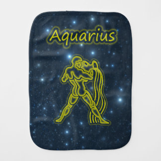 Bright Aquarius Burp Cloth