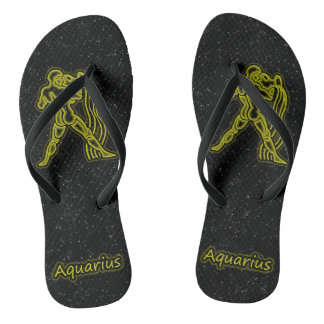 Bright Aquarius Flip Flops