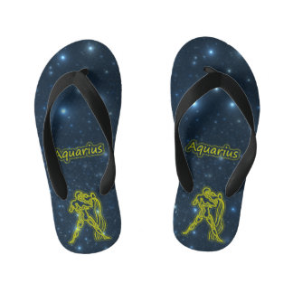 Bright Aquarius Kid's Flip Flops