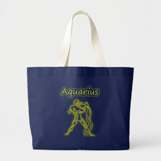 Bright Aquarius Large Tote Bag
