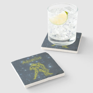 Bright Aquarius Stone Coaster