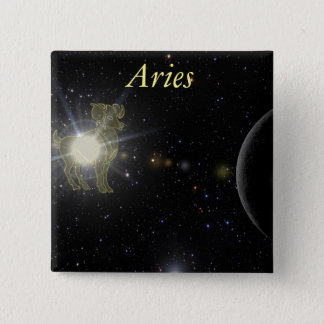 Bright Aries 15 Cm Square Badge