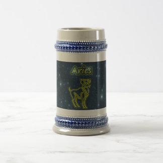 Bright Aries Beer Stein
