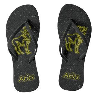 Bright Aries Flip Flops