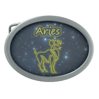 Bright Aries Oval Belt Buckles