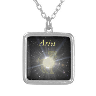 Bright Aries Silver Plated Necklace