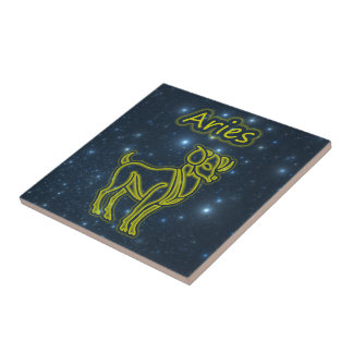 Bright Aries Small Square Tile