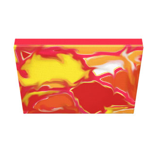 """Bright Art Piece for Zazzle I've called """"Squazzle"""" Gallery Wrapped Canvas"""