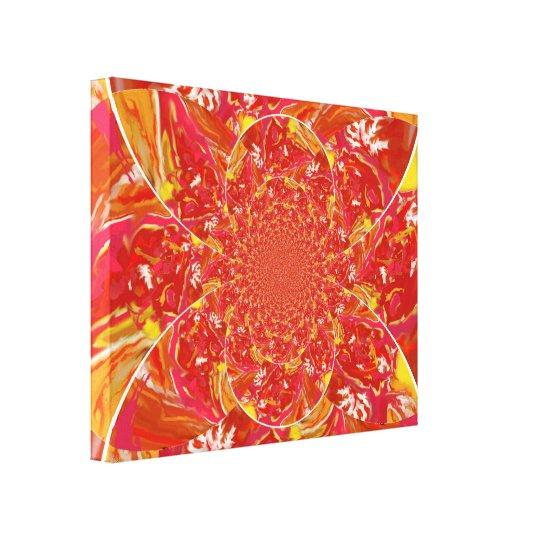 "Bright Art Piece ""Squazzle"" Kaleidoscope Design 1 Canvas Print"