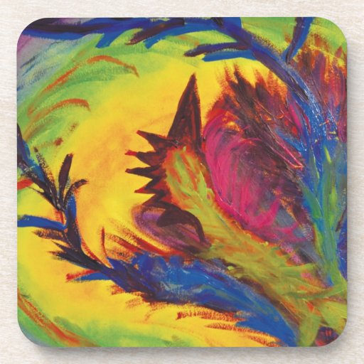 Bright Artistic Abstract Design Coasters