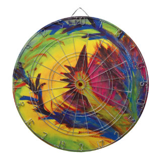 Bright Artistic Abstract Design Dartboard