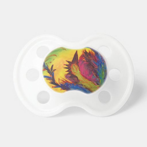 Bright Artistic Abstract Design Pacifier