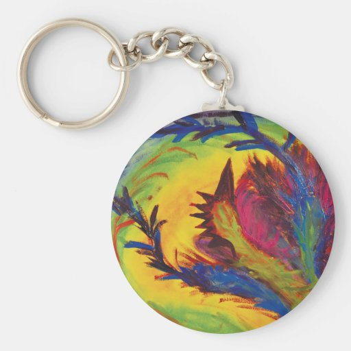 Bright Artistic Abstract Design Key Chain