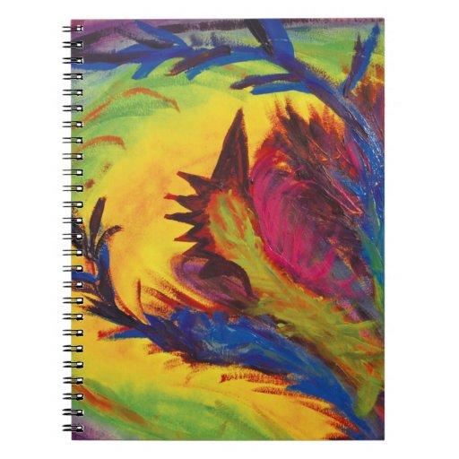 Bright Artistic Abstract Design Spiral Note Book