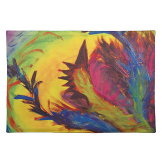 Bright Artistic Abstract Design Place Mats