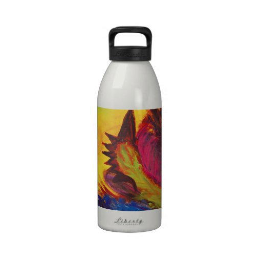 Bright Artistic Abstract Design Water Bottles