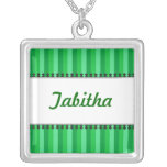 Bright Awnings Green Name Necklace