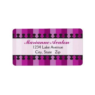 Bright Awnings Purple Address Labels