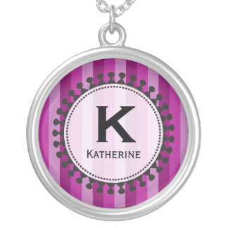 Bright Awnings Purple Monogram Necklace