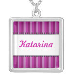 Bright Awnings Purple Name Necklace