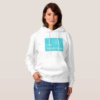 Bright Background with Clear Font and Icon Design Hoodie