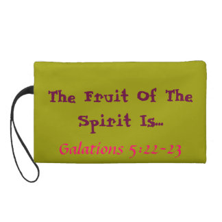 Bright bagette Fruit of the spirit verse! Wristlet Clutch