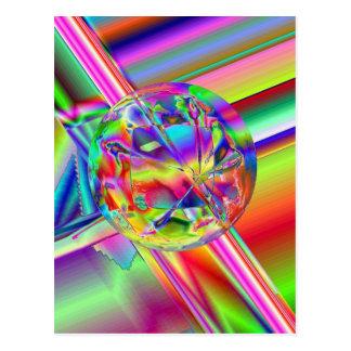 Bright Ball Slider Postcard