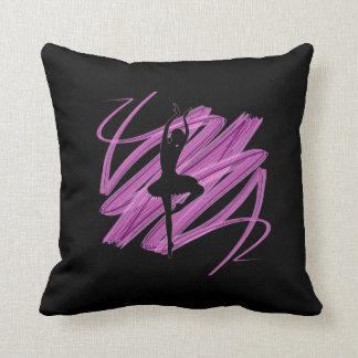 Bright ballerina dancer cushion