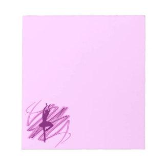 Bright ballerina dancer notepad