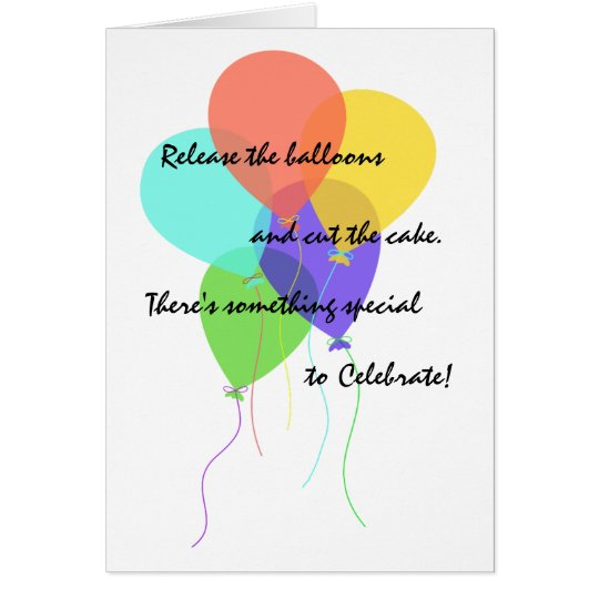 Bright Balloons Add Name & Age Birthday Greeting